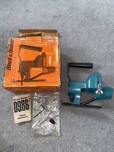 Black & Decker Jig Saw Attachment D986 used Still In Original Box Vintage Tool
