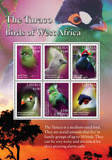 Liberia-2016 West Africa (Turaco) Birds on Stamps Sheet of 6 MNH