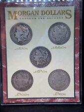 """(5) Morgan Silver Dollar $1 Collection Set """"Through The Decades"""" ECC&C, Inc."""