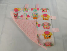 Swiggles Owl Lovey Security Blanket Taggies