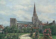 Chichester Cathedral, Sussex England, Garden etc. - United Kingdom Art Postcard
