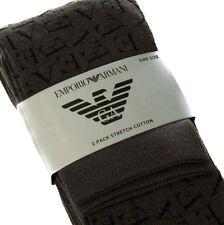 Armani Men's 2 Pairs Grey Socks BNWT M L Pk Pack 6-11 40 - 45 Plain & Patterned