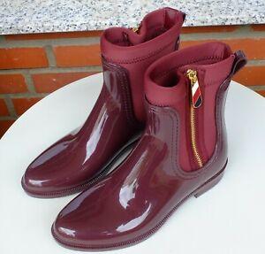 Tommy Hilfiger Gummistiefel Chelsea Boots Rain Boots Odette Gr. 38 @Text lesen@