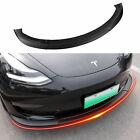 Fit Tesla Model 3 Front Bumper Lip Spoiler Body Kit Lip Accessories Matte Black
