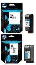 GENUINE ORIGINAL HP 17 COLOUR AND 15 BLACK 816C 825C 840C 843C 845C FAST POSTAGE