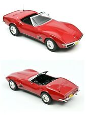1/18 Norev Chevrolet Corvette Convertible 1969 Red Neuf Livraison Domicile