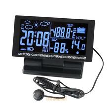 LCD Digital Car Vehicle Indoor Outdoor Alarm Clock Temperature Thermometer
