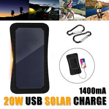 20W 5V Mono Solar Panel Usb Battery Charger Power Bank for iPhone