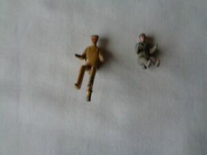 Vintage seated diecast machinery, tractor  seated drivers. Possibly Dinky.