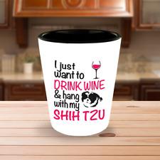 Drink Wine With Shih Tzu Shot Glass, Shih Tzu Dog Gift, Shih Tzu Dog Accessories