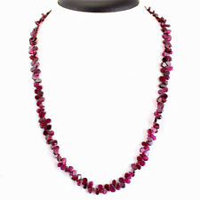 """Lowest Price 127.05 Cts Natural Single Strand Red Garnet Necklace Gemstone 20""""mm"""
