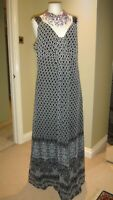 M&S PER UNA GORGEOUS PAISLEY MAXI EVENING PARTY HOLIDAY DRESS SIZE 16r TALL