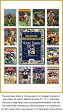 Notre Dame Sports Illustrated Cover Collection Poster Fighting Irish