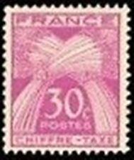 """FRANCE STAMP TIMBRE TAXE N° 68 """" TYPE GERBES 30c LILAS-ROSE """" NEUF xx TTB"""