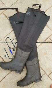 Red Head Bone Dry Sz 10 Rubber Cleated Hip Waders Mens Waterproof Fishing Boot
