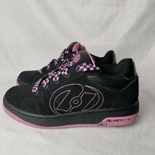 Heelys Women 7 Pink and Black Plaid Shoe Lace Wheel Sneaker Shoe
