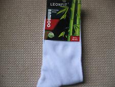 Men's Bamboo socks, sizes 7-9 or 9-11, 92% Bamboo, 6% cotton,plain White