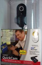 Logitech Quickcam For Notebooks Pro Web Cam avec étui de transport Livraison Gratuite Au Royaume-Uni!