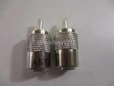 Lot of 2 Astatic Pl259 Cb Radio Antenna Coax Cable Connector New 302-Astpl259Z