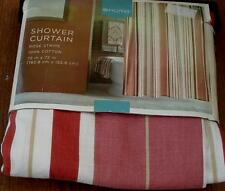 Target Home 100% Cotton Shower Curtain - Rose Stripe - BRAND NEW WITH DEFECTS