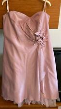 Blush Pink Strapless Dress by Debut Size 18