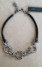BCBG MAX AZRIA LEATHER-HEXAGONAL LINK NECKLACE
