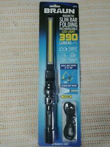 NEW Braun 390 Lumen Magnetic Slim Bar Folding Rechargeable LED Worklight