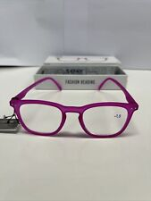 IZIPIZI #E Pink Crystal Soft Reading Glasses +1.5 Strength LMS#E C05-CB