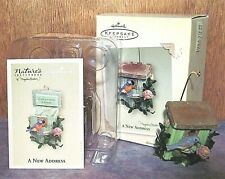 "2005 Hallmark Marjolein Bastin Ornament ~ "" A New Address "" Bird House Free Shpg"