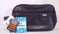 Genuine Leather Personal Travel Bag Shaving Make-Up Medicine Toiletry Bag