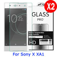 2X Premium 9H Tempered Glass Film Screen Protector For Sony Xperia XA1 5.0 inch