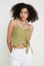 Urban Outfitters Linen Assymetrical Button Up Cami - Large
