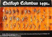 Preiser 13264 H0 Christoph Columbus 1492 Limitierte Auflage, 34 handbemalte Fig
