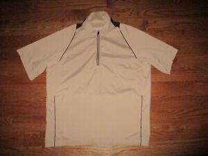 Mens Adidas Golf Climaproof 1/4 Zip Pullover Short Sleeve Wind Shirt Jacket L