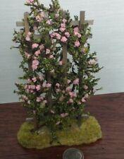 Dollhouse Miniature Fairy Garden Handcrafted Rose Trellis Pink 1:12 scale