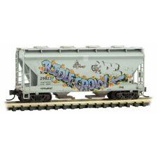 N Scale - MICRO-TRAINS LINE 092 44 470 NDYX Weathered 2-Bay Cov. Hopper # 298237