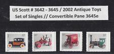 US Scott # 3642 - 3645 / 2002 Antique Toys Set of Singles // Convertible 3645e