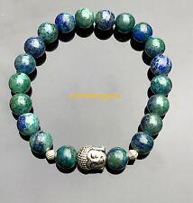 Buddha Azurite Natural Gemstone Bracelet Yoga Meditation Third-Eye Chakra Raiki