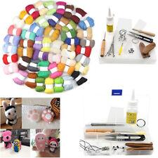 New 50 Colours Wool Needles Felt Tool Set + Needle Felting Mat Starter Kits DIY