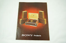 Vintage 1970s Sony Catalogue / Product Guide: Receivers, TVs, Radios, Speakers +