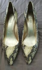 GUESS Snake Animal Print Stilletos Heels Pointy Toe Size 10M   2
