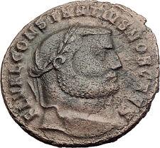 CONSTANTIUS I Chlorus 300AD Antioch Follis BIG Ancient Roman Coin GENIUS i63200