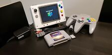 White Portable Nintendo 64 W/ Everdrive Houses ALL 64 & NES Games