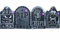Set of 4 Polyfoam Tombstones Halloween Yard Decorations