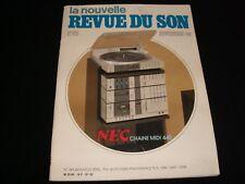 LA NOUVELLE REVUE DU SON<>NOVEMBER 1984<>FRENCH AUDIO MAG.°#82°DENON DP 100 M