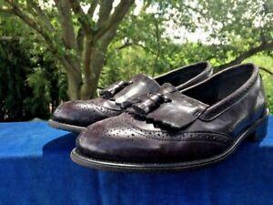 DEXTER Kiltie Tassel Loafers Oxfords Wing Tips Cordovan Shoes Mens Sz 10.5 👟1