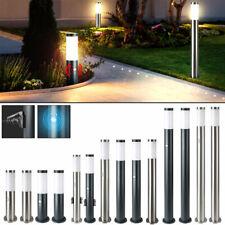Außen Steh Leuchte Bewegungsmelder Garten Stand Strahler Sockel Lampe Steckdosen