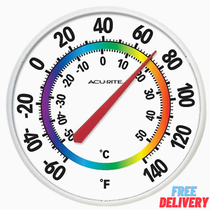 Analog Thermometer Indoor Outdoor Digital Temperature Meter Monitor Garden Patio