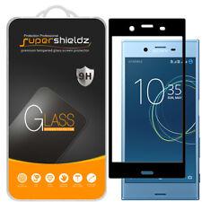 2X Supershieldz Sony Xperia XZ1 Full Cover Tempered Glass Screen Protector Black