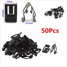 50Pcs Car Console Dashboard Auto Trim Metal Retainer Black Rivet Fastener Clips